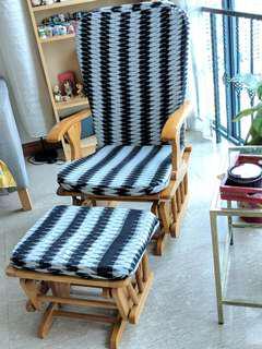 Wooden Rocking Chair - Light Brown