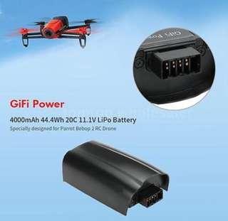 GiFi Power 4000mAh 44.4Wh 20C 11.1V LiPo Battery 3s for Parrot Bebop 2 RC Drone