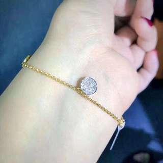 香港預展 18k鑽石手鏈