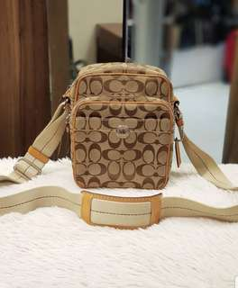 Coach Monongram Canvas Crossbodybag ❤BIG SALE P7995 ONLY❤ In excellent condition Bag only Swipe for detailed pics