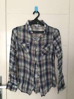 Cotton On Plaid Blue Shirt