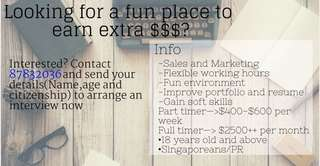 Earn extra income during your free time.