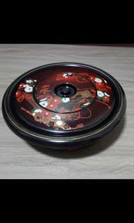 Vintage Japanese Style Lacquerware Tray Set