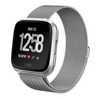 Free Mailing! Fitbit Versa Milanese Strap - Silver
