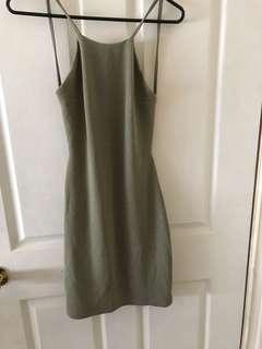 Short, no back dress