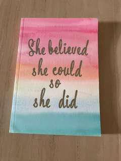 Pastel rainbow notebook