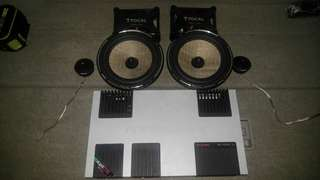 靚聲focal ps165fx 2路ㄧ套。mosconi as100.4 4出