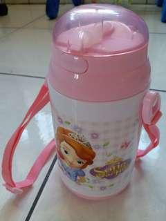 🚚 迪士尼蘇菲亞小公主吸管水壺