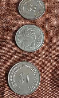 3pcs Lion coin all y1968