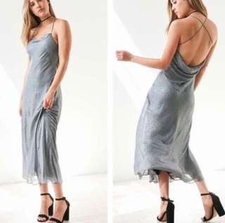 Urban outfitters silver maxi dress