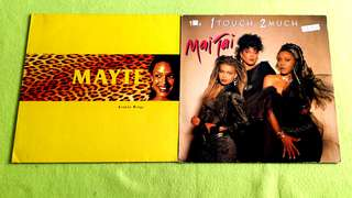 MAI TAI . 1 touch 2 much ● MAYTE . broken wings. ( buy 1 get 1 free )  vinyl record