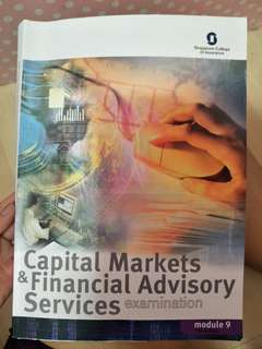 Capital Markets & Financial Advisory Services M9 textbook