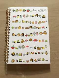 Sumikko Gurashi hardcover notebook sushi