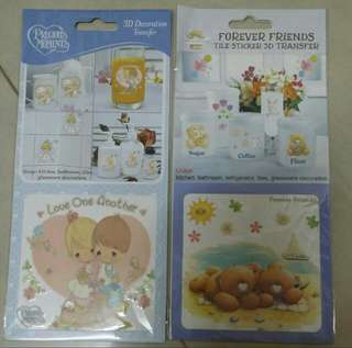 Previous Moments 3D Decoration Love One Another & Forever Friend 3 D Decoration Transfer (2 Pcs)