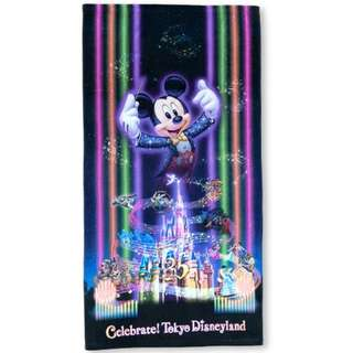 Tokyo Disneysea Disneyland Disney Resorts Sea Land 35th Anniversary Celebrate 2018 Bath Towel Preorder
