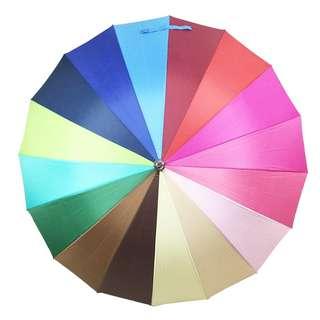 Rainbow Design 16 ribs windbreaker umbrella