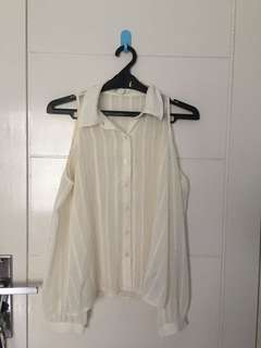 Forever 21 Off-white off-shoulder shirt