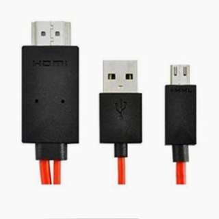 2 Meter 11 Pin Micro USB to HDMI MHL 1080P HDTV Samsung Adapter