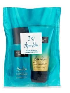 Victoria Secret Aqua Kiss Mini Mist & Lotion Gift Set