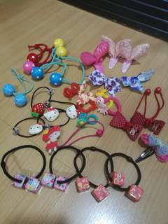 Assotted girls hair accessories, all letting go Rm20 only, all in good condition