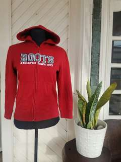 Roots 73 Athletics Red Zip Hoodie