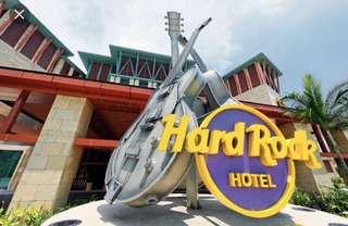Hotel stay at hard rock sentosa Singapore (14-16 July sat to mon)