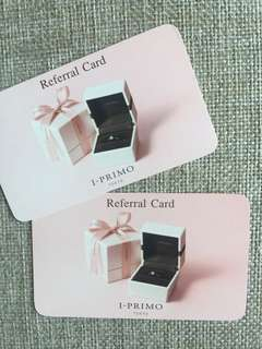 I-PRIMO TOKYO Referral Card 2張($200 SOGO Cash Coupon)