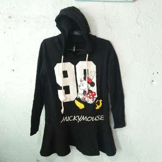 Black Micky Mouse Hoodie