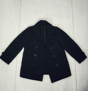 🚚 清倉!GU男童黑色大衣♥