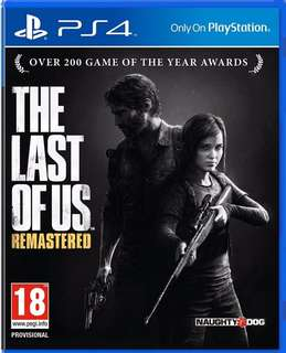 The Last Of Us Remastered ps4 games