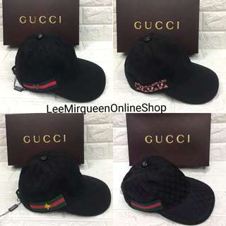 GUCCI BLACK CAP with Box Unisex