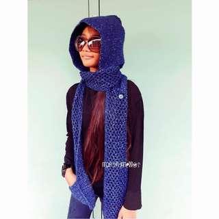 Long shawl hoody