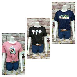 3pcs Brandnew clothes Printed top twisted