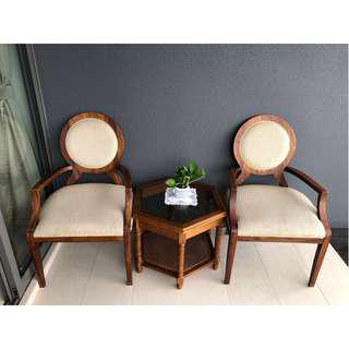Coffee Chairs & Table