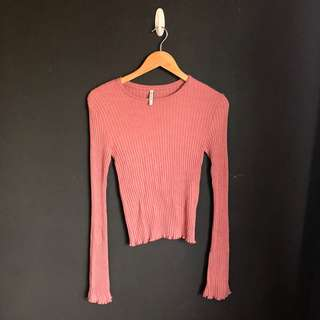 Stradivarius Bell Sleeved Sweater