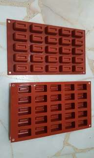 2pcs Silicone Mould