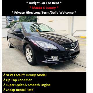 Budget Car Rental - Mazda 6 Luxury Auto For Rent - Daily / Private Hire Welcome