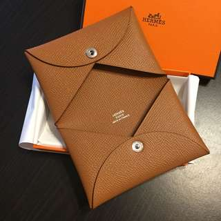 全新 Hermes Calvi Card Holder