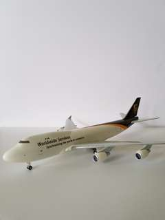 B747 UPS World Services Cargo Scale 1:400