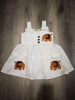 Baby Girl Elephant Sleeveless Dress