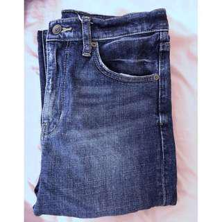 Uniqlo Straight Regular High Rise Jeans 24 inch