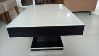 Center Table - white tempered glass top