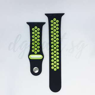 Free Mailing! Apple Watch 42mm Strap Sport - Black & Yellow