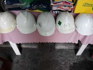 White Construction Helmets