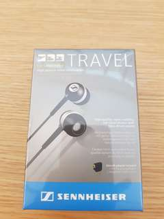 🚚 Brand new Sennheiser Travel earphone with aircraft adapter n storage pouch