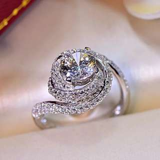 BN Fashion Crystal Engagement Ring