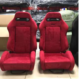 RECARO Red Semi Bucket Seats