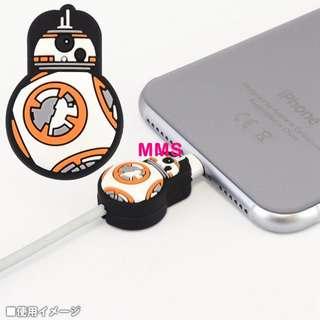 日本直送 星球大戰 Star Wars BB8 iphone 防斷裂保護套 數據線保護套 充電線保護套 數據線保護套