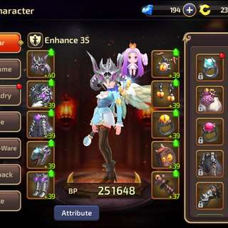 Dragon Nest Mobile Account Selling Cheap