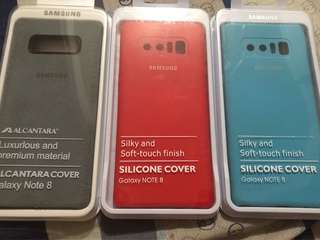 Samsung note 8 Cases silicone and alcantara OEM